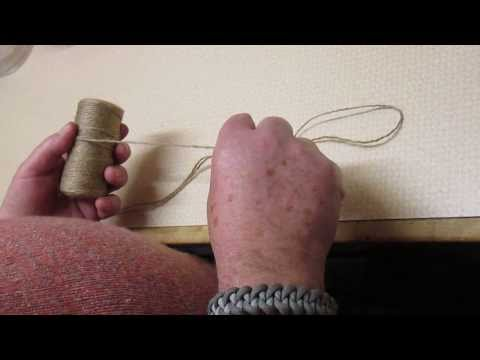 technique of breaking string and cord by hand with no tools