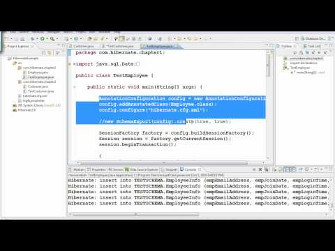 Java Hibernate Tutorial Part 11 - One class to Two tables