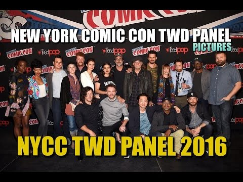 The Walking Dead NYCC Panel Cast Pictures New York Comic Con 2016