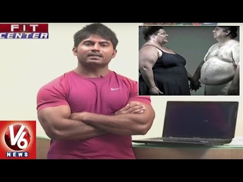 Fit Center | Trainer Venkat Fitness Tips | Exercises For Weight Loss Without Equipments | V6 News