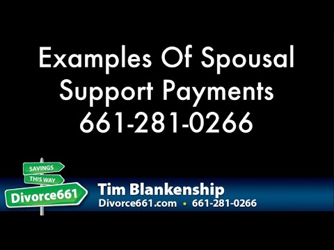 Examples Of Alimony & Spousal Support California Divorce