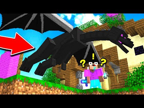 What Happens When You Kill The Ender Dragon in Minecraft Bed Wars? (Minecraft Trolling_