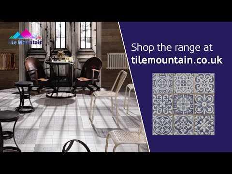 Quick Look: Faenza Rustic Blue Patterned Matt Tile (443325) - Tile Mountain