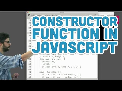 6.4: The Constructor Function in JavaScript - p5.js Tutorial