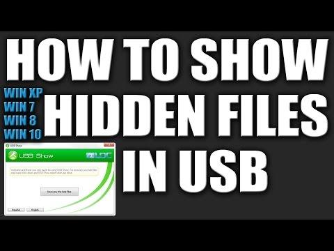 How to Show Hidden Files in USB in Windows 7