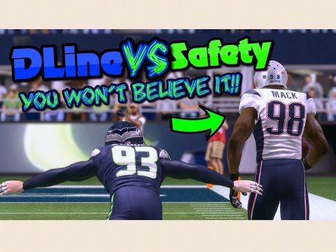 TEAM OF DEFENSIVE LINEMEN vs TEAM OF SAFETIES!! Madden 17 Challenge