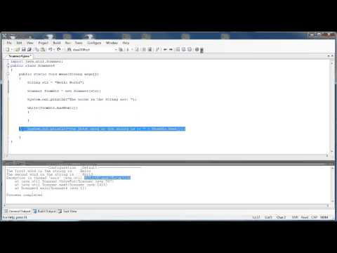 Scanner Class 2 Part 1:  Splitting Strings (Java)