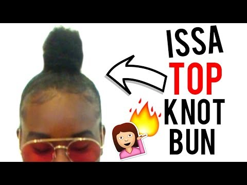 EASY TOP KNOT BUN ON SHORT HAIR + BABY HAIRS LAID! Tashaa Xo