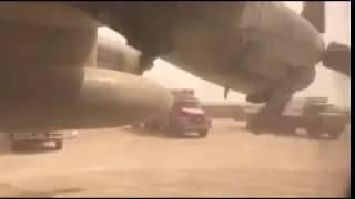 شاهد..جسر جوي الى مارب وبدء وصول  الطائرات
