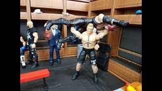 WHF EXTREME FIGHTS! ACTION FIGURE MATCH! WWE MATTEL FIGURES! LESNAR VS KANE