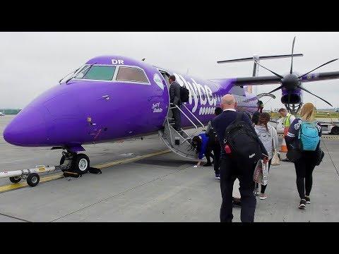 FlyBe Dash 8 Q400 Edinburgh to Manchester | Full Flight