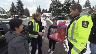 Gifts instead of tickets? Police in B.C. surprise drivers