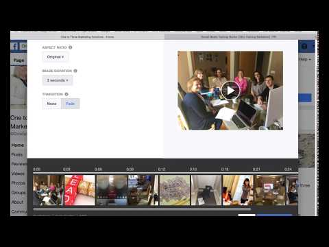How to create a Facebook slideshow 2018