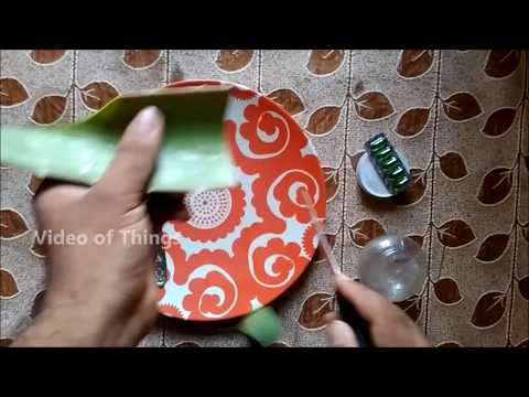 How to Home-Made Aloe Vera gel with Vitamin E for Skin and Hair??? in Tamil!!!