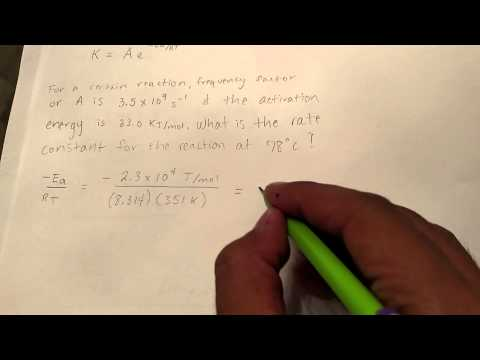 Rate Constant & Activation Energy