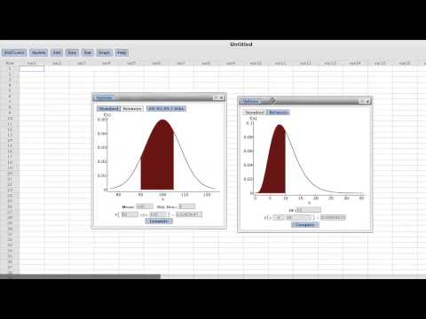 StatCrunch - Calculators for P-Values and Distribution Critical Values