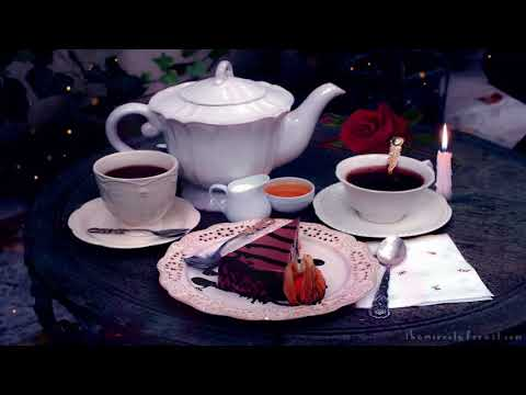 🎧 Romantic Date Ambience: 8 HOUR Valentine's Day asmr Soundscape (restaurant, tea, fire, cake sound)