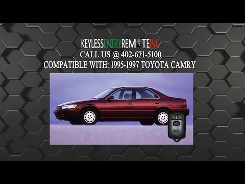 How To Replace Toyota Camry Key Fob Battery 1995 1996 1997
