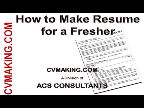 How to make CV Resume of a Fresher