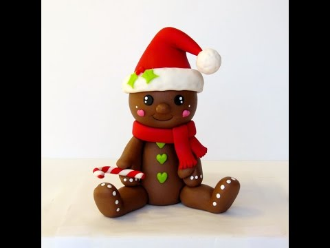 How To Make A Gingerbread Man Cake Topper