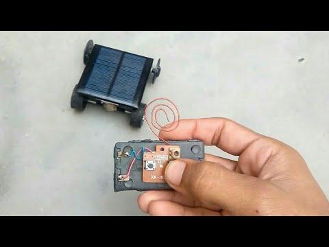 Wireless remote control solar car