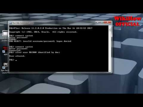 How to change user password on Oracle 11g