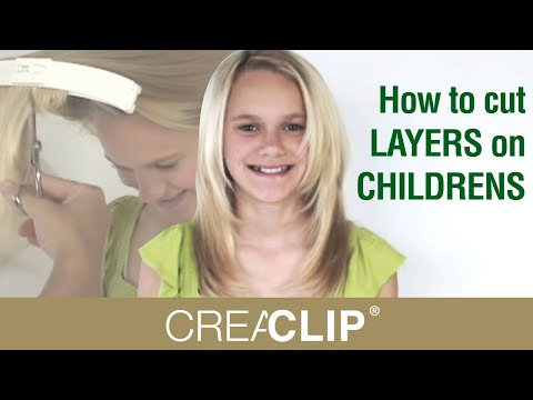 How to cut LAYERS on CHILDRENS hair tutorial! Layered hairstyle