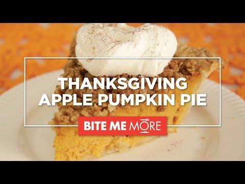 EASY THANKSGIVING DESSERT - Apple Pumpkin Pie Recipe