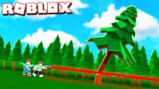 Roblox Adventures - CUTTING DOWN A 9999 FT TREE WITH LASERS! (Wood Cutting Simulator)