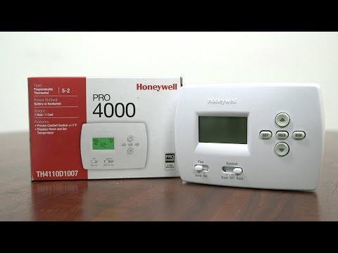 How to Program Honeywell Pro4000 thermostats