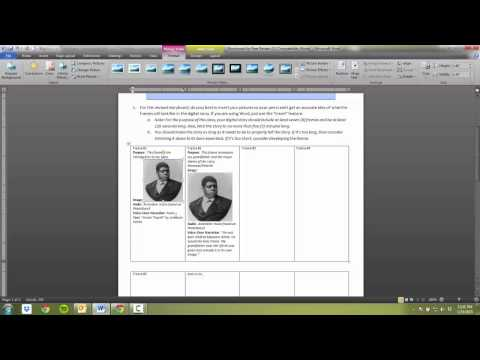 How to open Storyboard RTF and Insert Pics into WORD