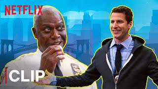Who Does The Best Captain Holt Impression? Ft. Jake Peralta, Gina Linetti | Brooklyn 99 | Netflix