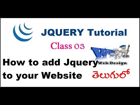 How to add jQuery to Your Website Two methods Telugu-02-vlr training