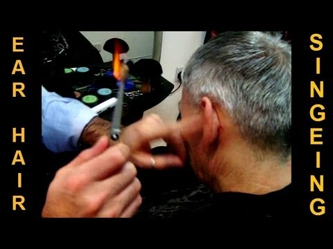 ✄ Removing Ear Hair with Fire - Traditional Turkish Singeing