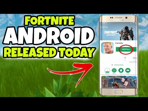 Fortnite Mobile ANDROID Download RELEASE TODAY (Fortnite Mobile Android Download Release Date)