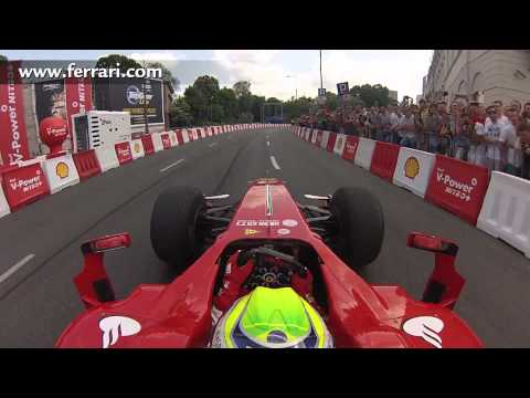 F1 2013 - Ferrari - On board camera with Felipe Massa at Warsaw Street Demonstration
