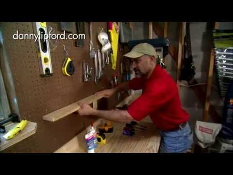 How to Hang a Shelf on Pegboard