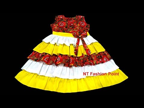 Beautiful new style dress for baby girls | Cutting & Stitching
