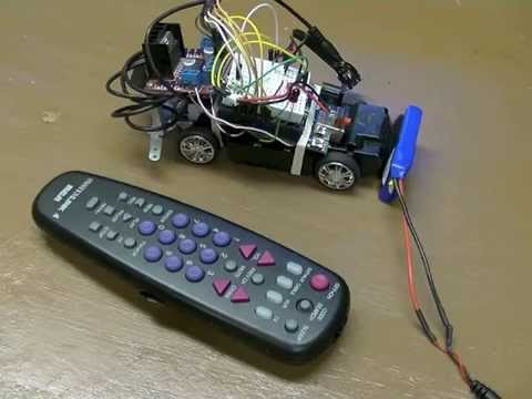 Arduino TV (IR) Remote Controlled Car