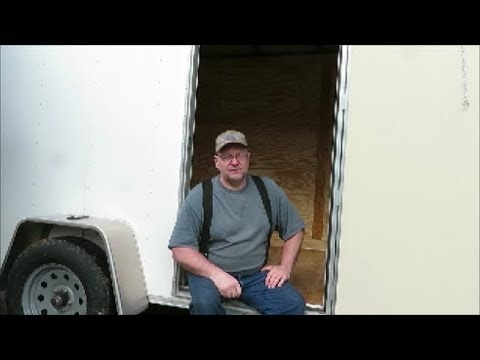 6 x 10 box trailer camper coming home