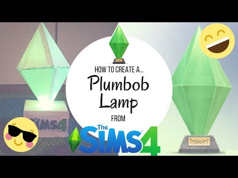 How to create a... | Plumbob Lamp! | The Sims 4 #thesims #lamp #paper #plumbob