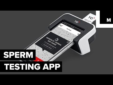 Sperm testing home device