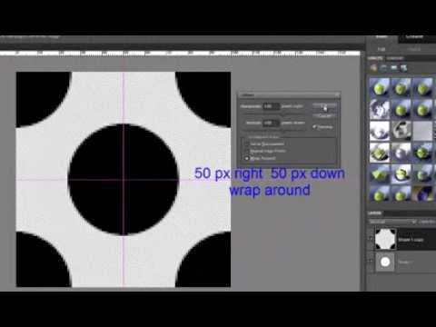 Tutorial: How to make polka dots pattern in Photoshop Elements