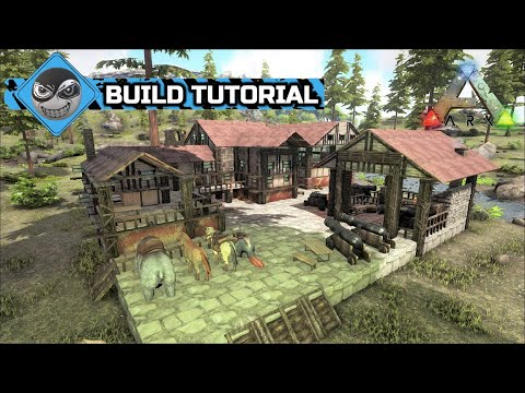 Ark Survival Evolved How to build a base, Riverside Cabin build tutorial, NO MODS