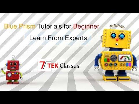 Blue Prism Tutorial for beginner from Tek Classes