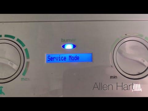 Ideal Logic Plus Combi Boiler Service. Putting an ideal into service mode