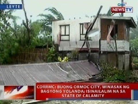 NTVL: CDRRMC: Buong Ormoc City, winasak ng Bagyong Yolanda