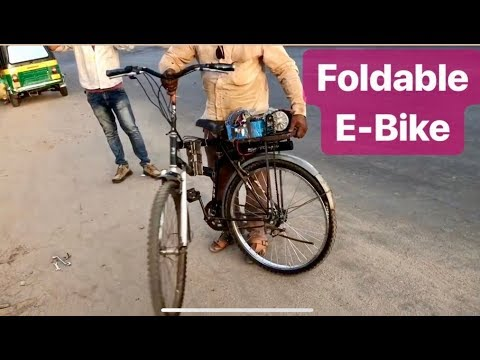 How to make Foldable E Bike   electric bicycle