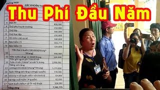 Phụ huynh vây kín hiệu trưởng đòi giải thích khoản thu phí đầu năm gần 8 triệu ở trường Sơn Đồng