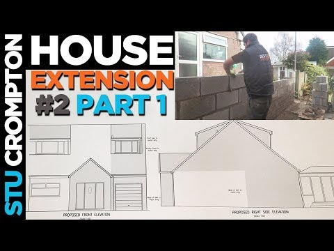 How to build a house extension in concrete block part1